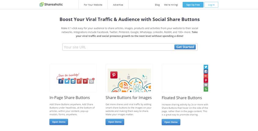 Shareaholic Social Share Buttons Plugin