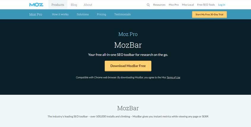 Mozbar Browser Extension