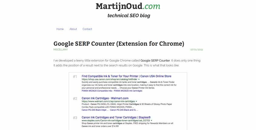 SERP Counter Browser Extension