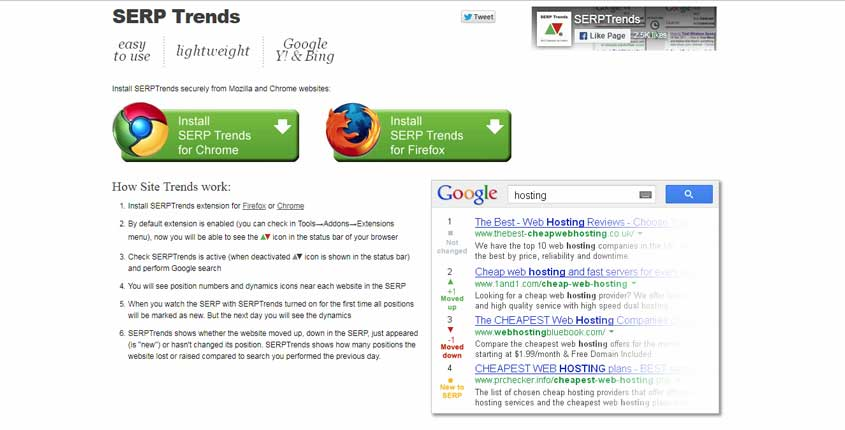 SERP Trends Browser Extension