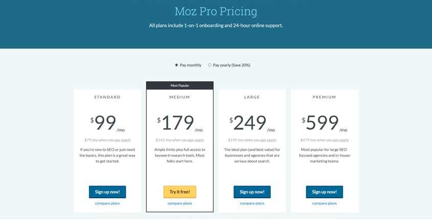 Moz Prices