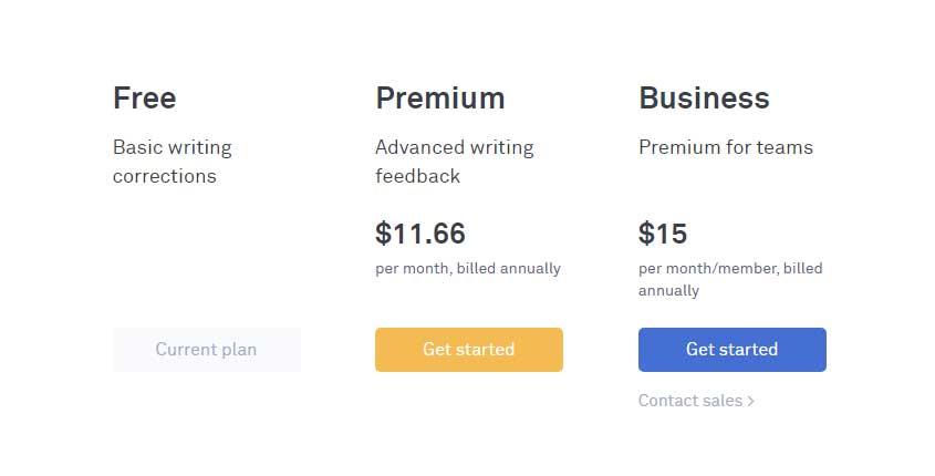 Grammarly Prices