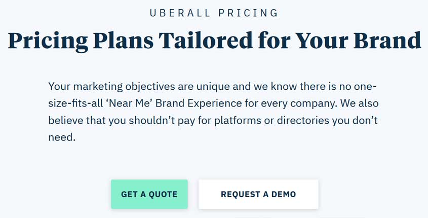 Uberall Prices